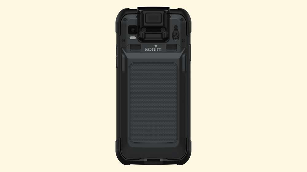 Back of Sonim RS60 and removable battery option