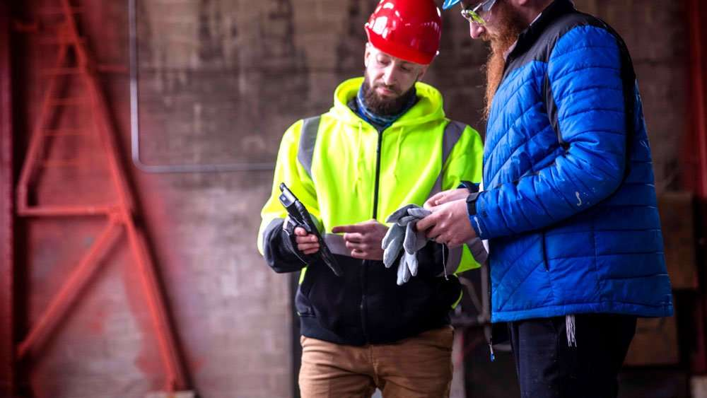 rugged mobile computer for construction site