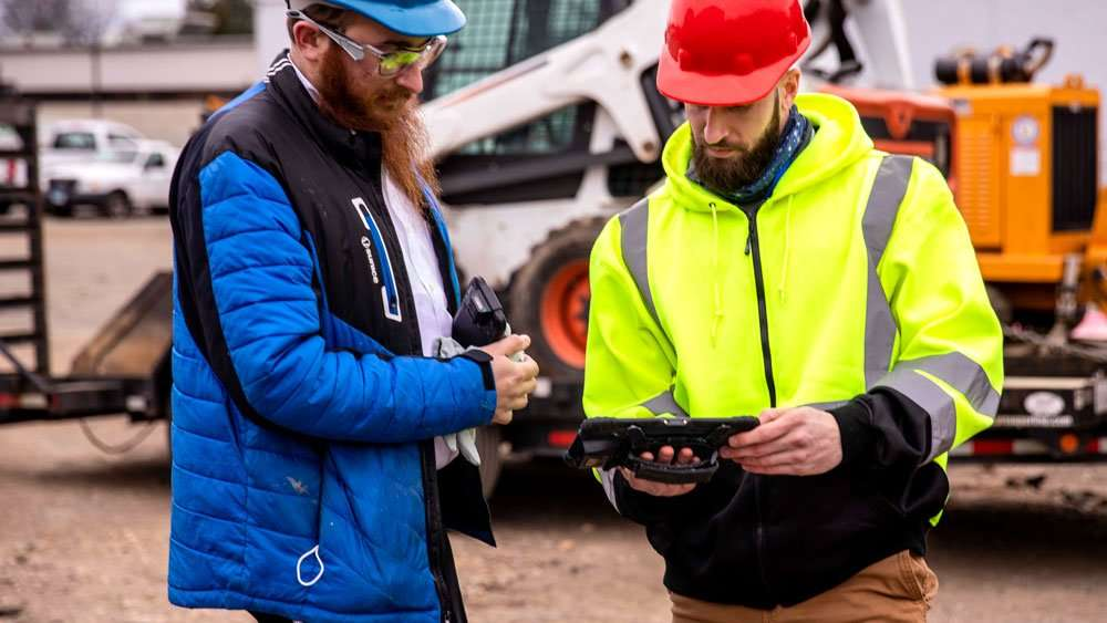 rugged tablet for construction site
