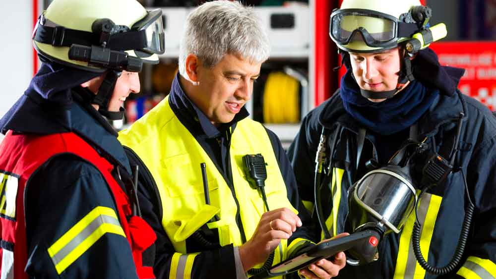 Rugged Tablets Firefighters