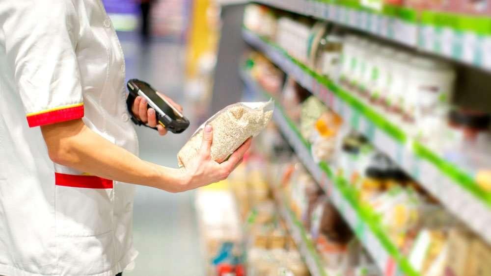 scanning grocery product DataLogic Joya Touch