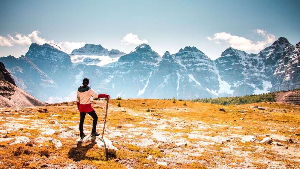 Man Exploring Mountain