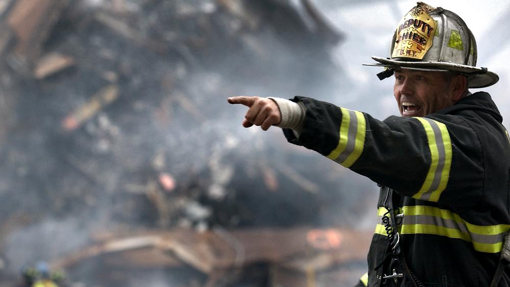 fireman giving instructions