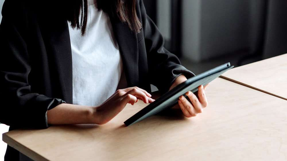 Using Tablet at a Desk