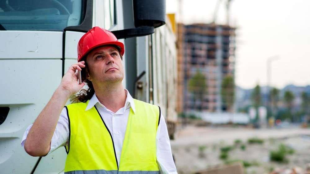 Zebra TC75 Construction Worker
