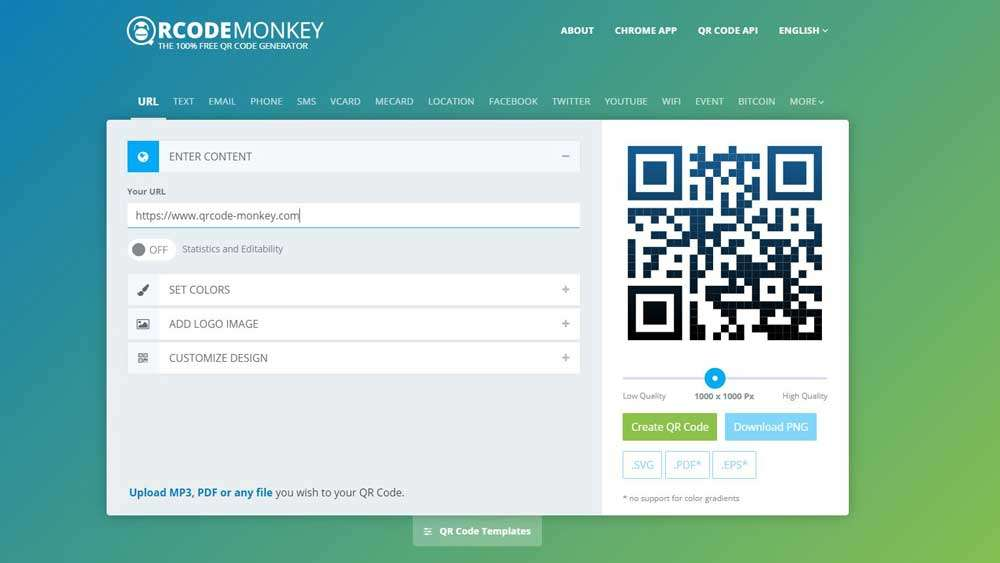 QR Monkey QR code generator