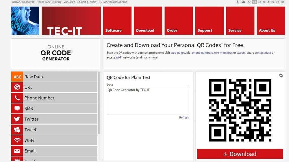 Tec It QR Code