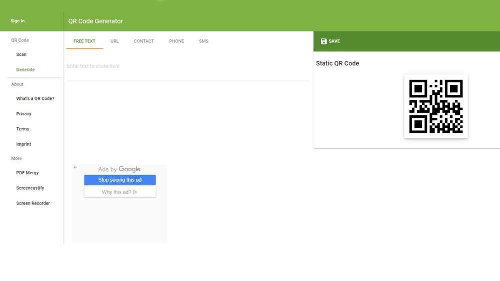 The QR Code Generator online
