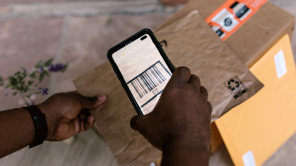 barcode scanning from android phone