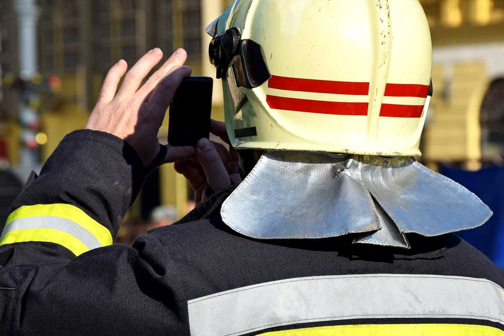 firefighters smartphone
