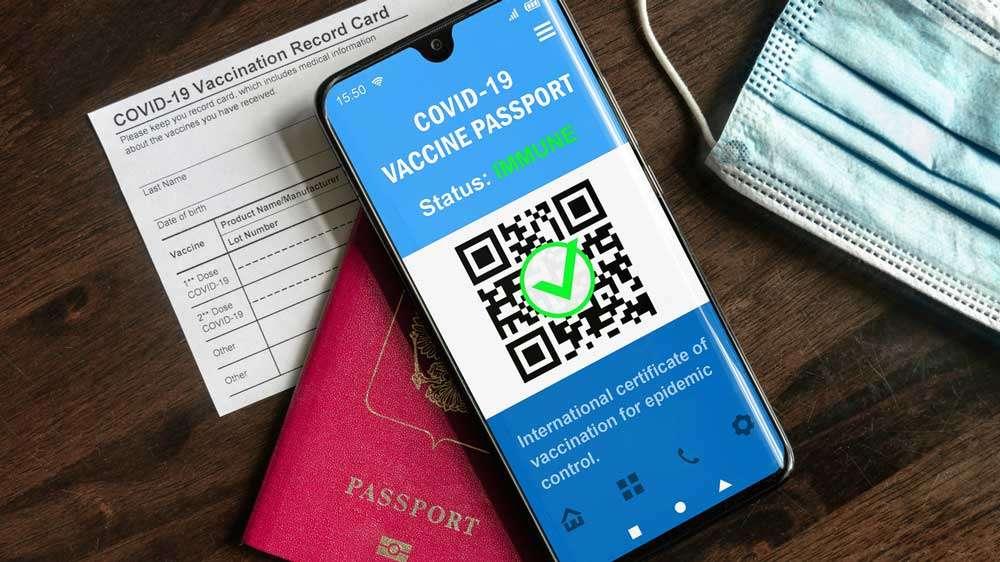 Online Scannable Vaccine Passport App