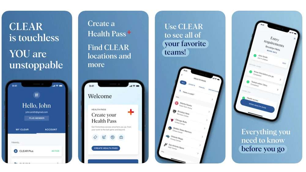 CLEAR - Fast, Touchless Access Vaccine Passport App