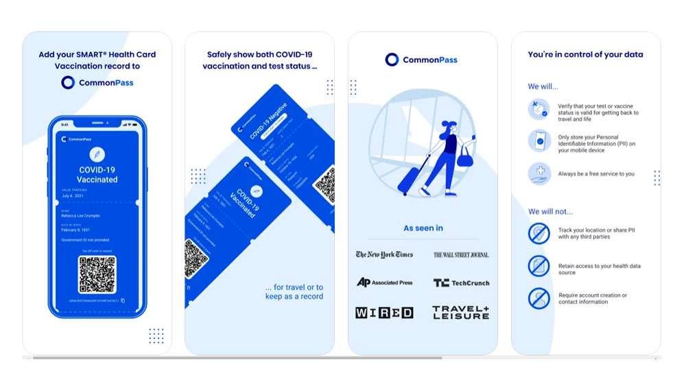 CommonPass IOS Device Screenshots