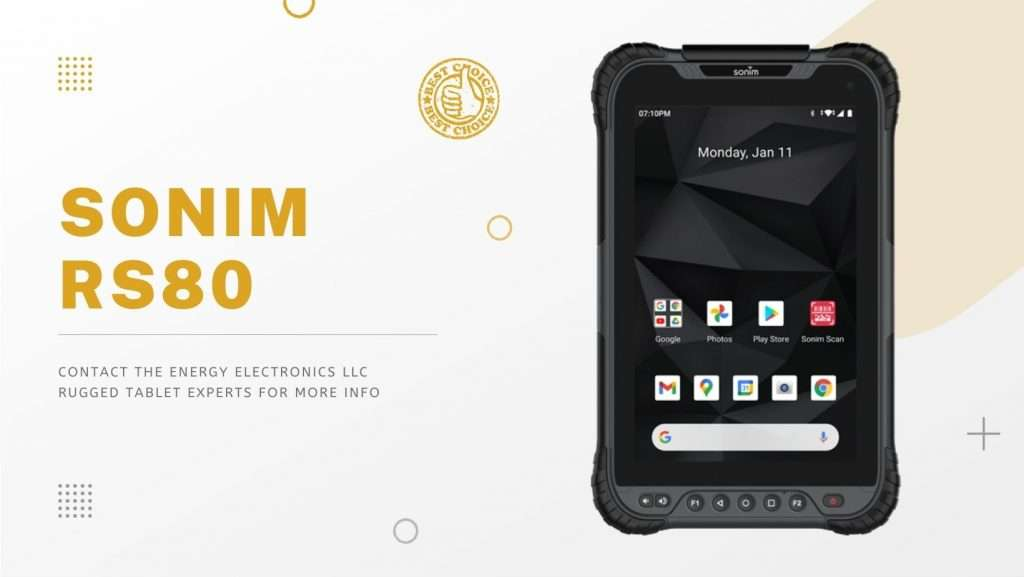Sonim RS80 Rugged Tablets with Barcode Scanners Energy Electronics