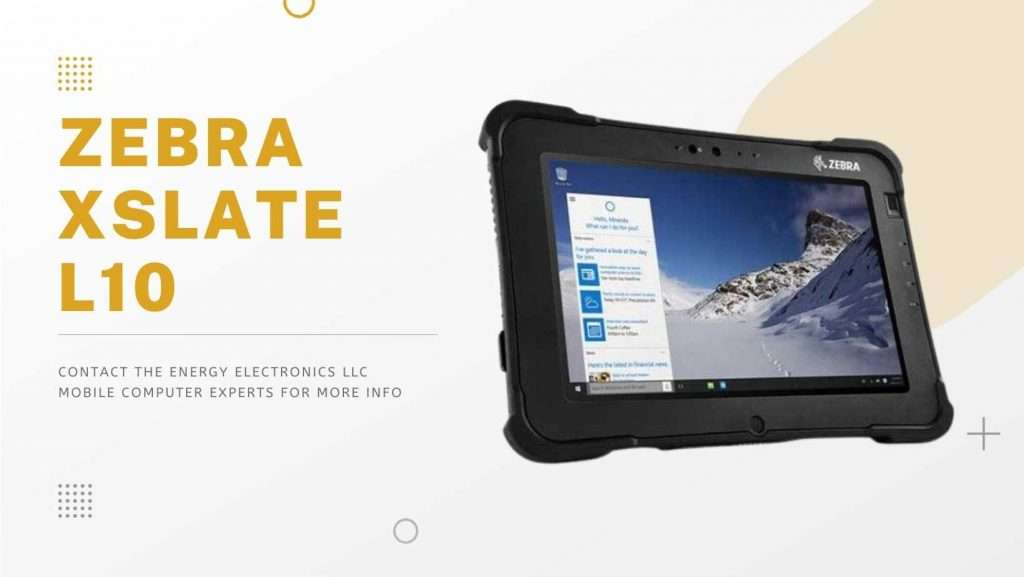 Zebra XSLATE L10 tablets with barcode scanners